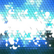 Colorful blue geometric background, abstract triangle pattern
