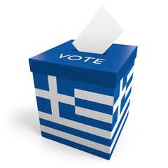 Greece election ballot box for collecting votes