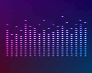 glow effect music equalizer dark background