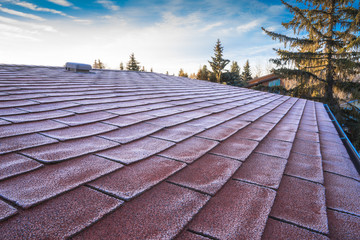 Frost on roof