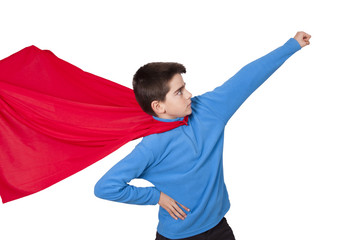 superman isolated on white background