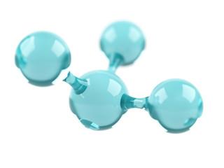 Molecule.3d illustration.