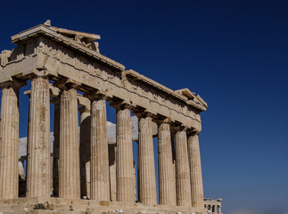 colonnade of the Parthenon