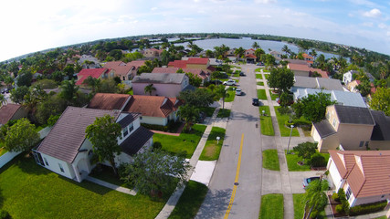 Neighborhood streetaerial view
