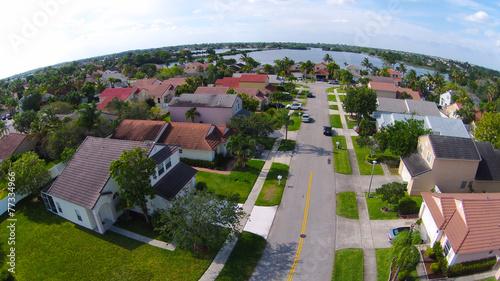 Neighborhood streetaerial view - 77334966