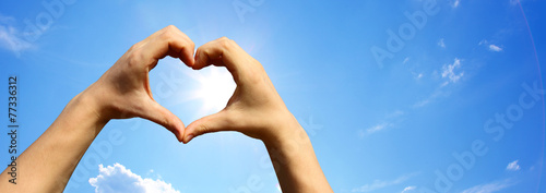 Leinwanddruck Bild Liebe Symbol