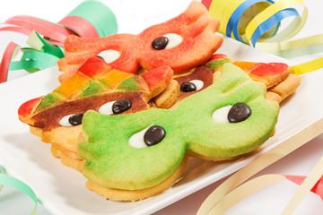biscotti colorati per carnevale