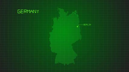 german modern digital map