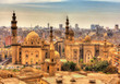 Leinwanddruck Bild - View of the Mosques of Sultan Hassan and Al-Rifai in Cairo - Egy