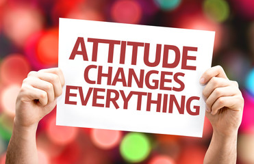 Attitude Changes Everything card with colorful background