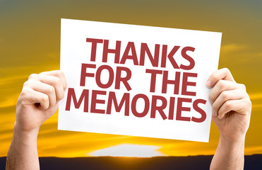 Thanks for the Memories card with sunset background