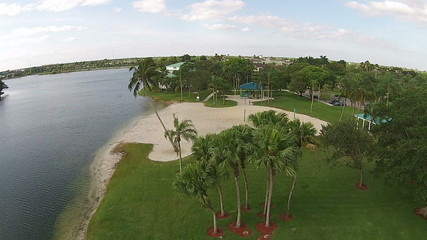 Aerial view of tropical park in Florida