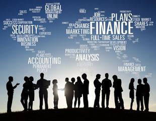 Global Financial Business Marketing Money Concept