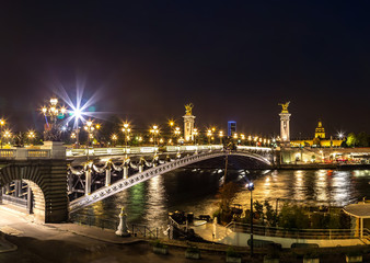 Bridge of the Alexandre III in Paris