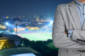 Business man sport manager