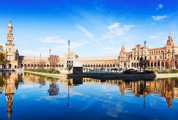 Day view of Plaza de Espana at Seville