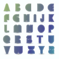 Set of alphabet.