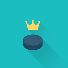 hockey puck sport icon
