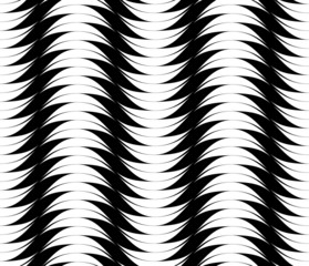 Black and white seamless pattern with stripe line.