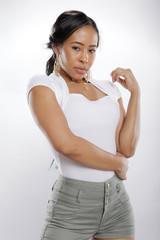 Asian girl with an informal attire