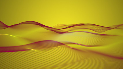 fantastic animation - wave object in motion – loop HD