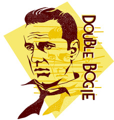 original vector illustration Humphrey Bogart