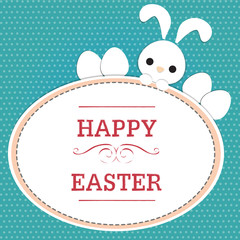 rabbit on easter card