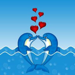 влюбленные дельфины