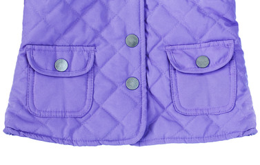 Violet purple quilted jacket with pockets