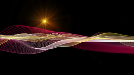 futuristic wave video animation with lights – loop HD