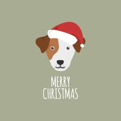 Merry Christmas Card, Jack Russell