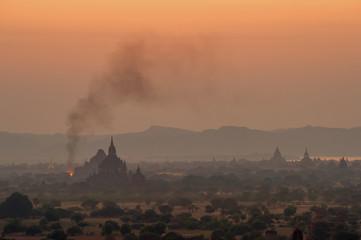 Bagan, Myanmar at dusk