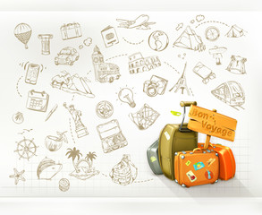 Travel infographics, vector