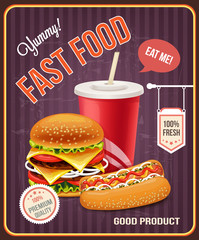 Fast food vector banner