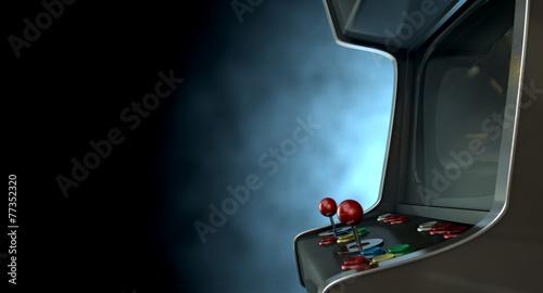 canvas print picture Arcade Machine Dramatic View