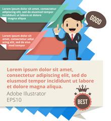 Modern business vector design template