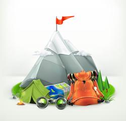 Backpacking vector illustration