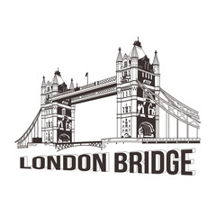 Vector tower bridge. London illustration