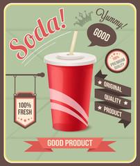 Vector soda banner