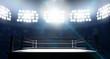 Leinwanddruck Bild - Boxing Ring In Arena