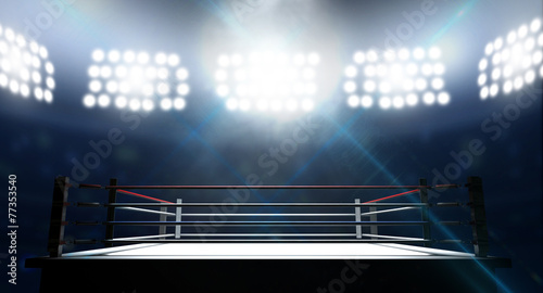 Leinwanddruck Bild Boxing Ring In Arena