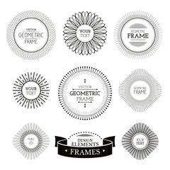 Geometric frames and labels