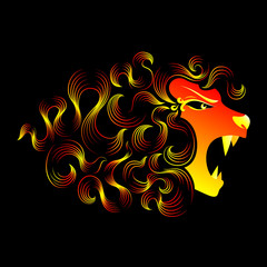 Magical roaring lion