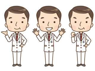 男性 医師 表情 セット
