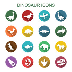 dinosaur long shadow icons