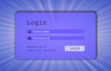 Login interface - username and password poster