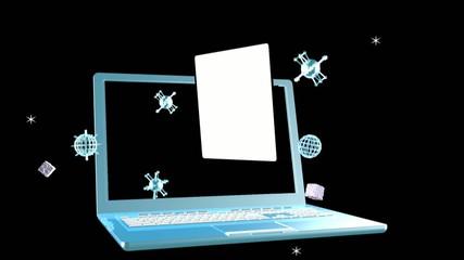 Cosmic telecommunications technologies.Animation