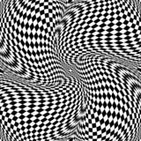 Design monochrome motion illusion checkered background