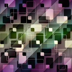 Retro geometric pattern on diagonal strikes background.