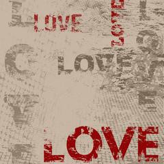 Typographic love poster design